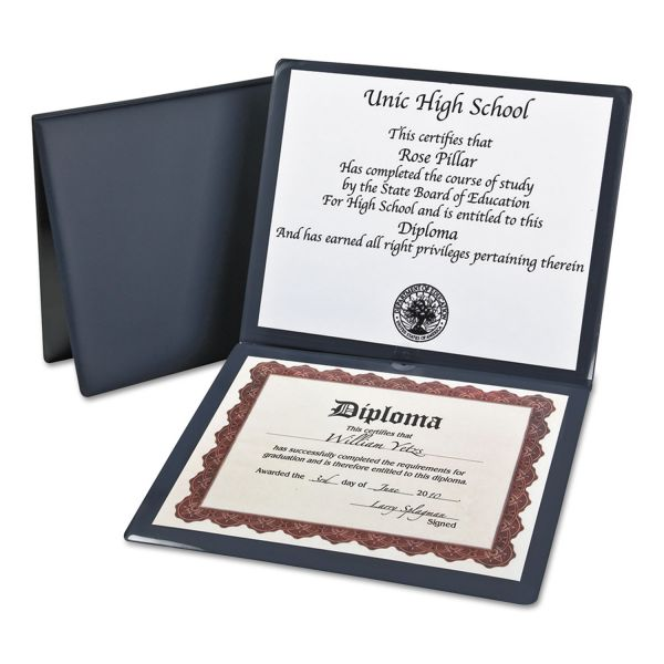 Oxford Navy Blue Certificate Holder