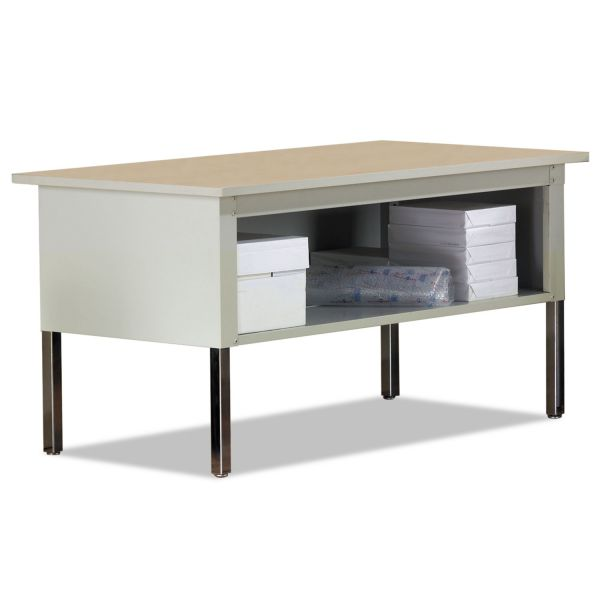 Safco Mayline Mailflow-To-Go Mailroom System Table, 60w x 30d x 36h, Pebble Gray