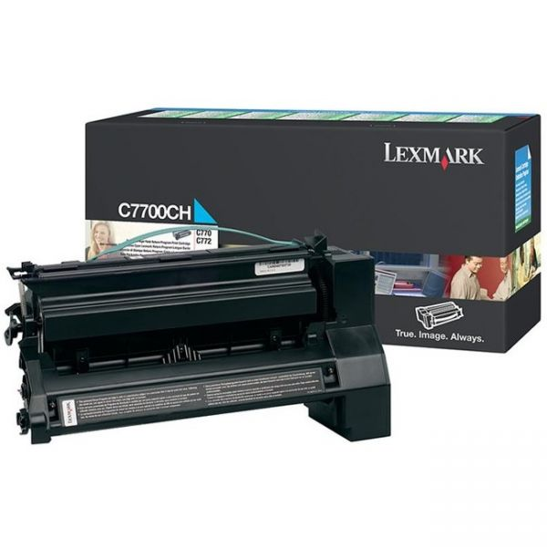 Lexmark C7700CH Cyan High Yield Return Program Toner Cartridge