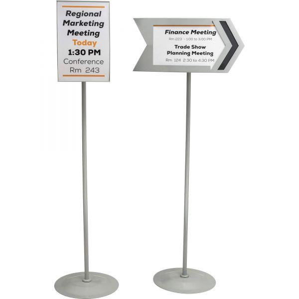 Safco Customizable Rectangular Sign Stand