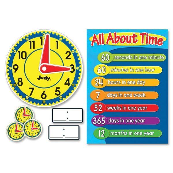Judy Clock Bulletin Board Set