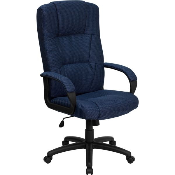 Flash Furniture High Back Executive Swivel Office Chair [BT-9022-BL-GG]
