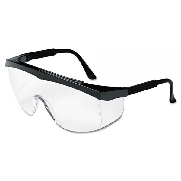 Crews Blackjack Protective Eyewear, Chrome/Clear