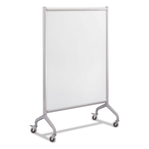Safco Rumba Full Panel Whiteboard Collaboration Screen, 36 x 54, White/Gray