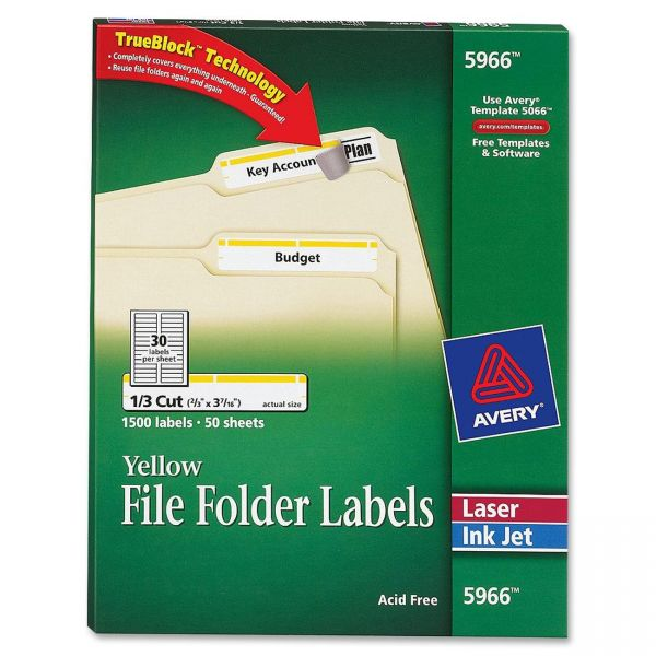 Avery Permanent File Folder Labels