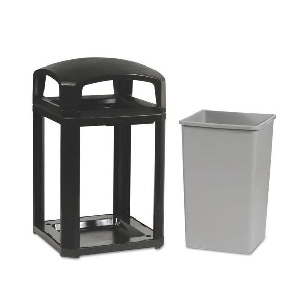 Rubbermaid Landmark Series Classic Dome Top 35 Gallon Trash Can w/Ashtray