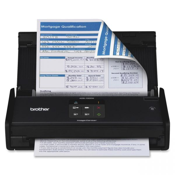 Brother ImageCenter ADS-1000W Compact - Color - Desktop Scanner with Duplex and Wireless Networking