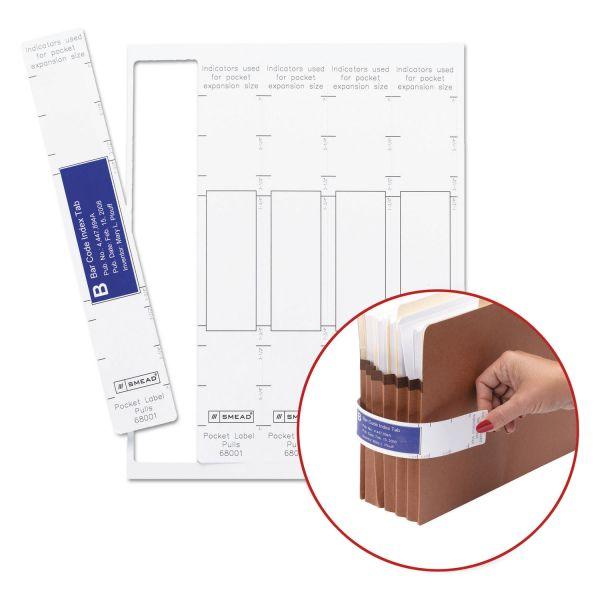 Smead Viewables Pocket Label Pulls, 10 1/8 x 1 5/8, White, 45/Pack
