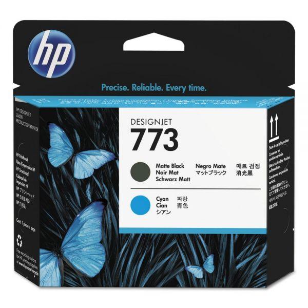 HP 773 Cyan/Matte Black Printhead (C1Q20A)