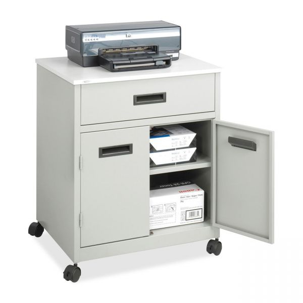 Safco Steel Mobile Machine Stand with Drawer