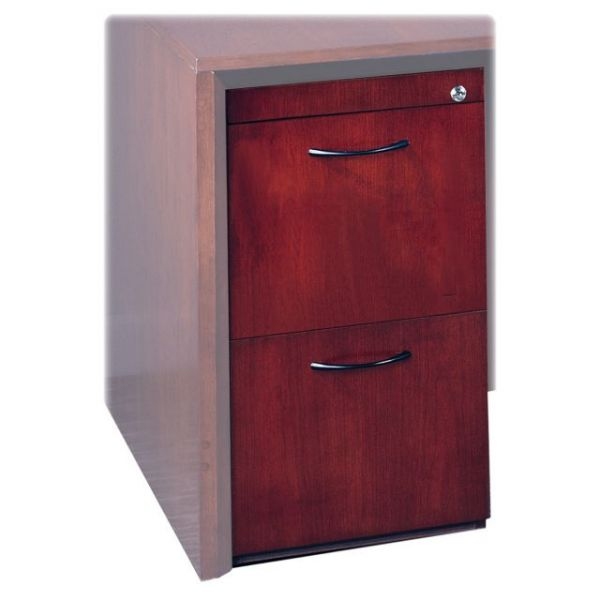 Tiffany Industries File/File Pedestal, 15W x 18D x 27H, Mahogany