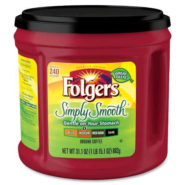 Folgers Simply Smooth Ground Coffee (1.94 lb)
