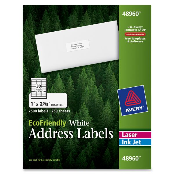 Avery 48960 EcoFriendly Address Labels
