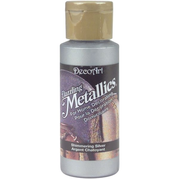 Deco Art Shimmer Silver Dazzling Metallics Acrylic Paint