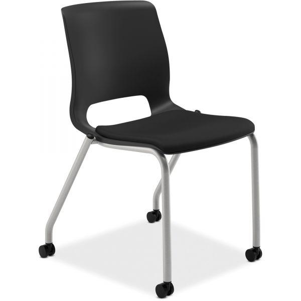 HON Motivate Series Upholstered 4-Leg Stacking Chair
