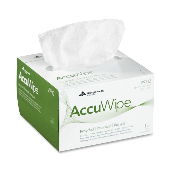 AccuWipe White 1-Ply Delicate Task Wipers