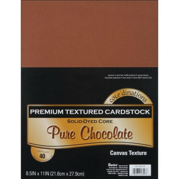 Core'dinations Premium Textured Pure Chocolate Cardstock