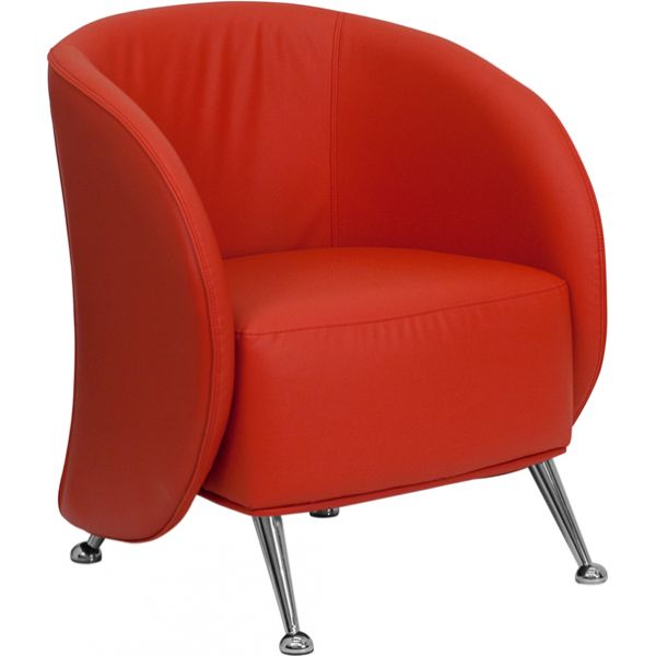 Flash Furniture Jet Series Red Leather Reception Chair