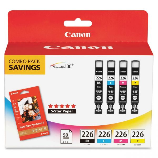 Canon CLI-226 Color Ink Cartridge Value Pack (CLI226BCMY)