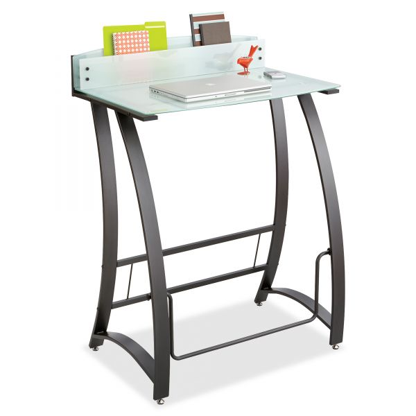 Safco Xpressions Stand-Up Workstation, 35w x 23d x 49h, Frosted/Black