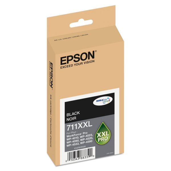 Epson T711XXL120 (711XL) DURABrite Ultra High-Yield Ink, Black