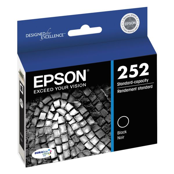 Epson T252120 (252) DURABrite Ultra Ink, Black
