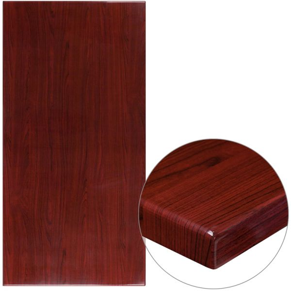Flash Furniture Rectangular Resin Table Top