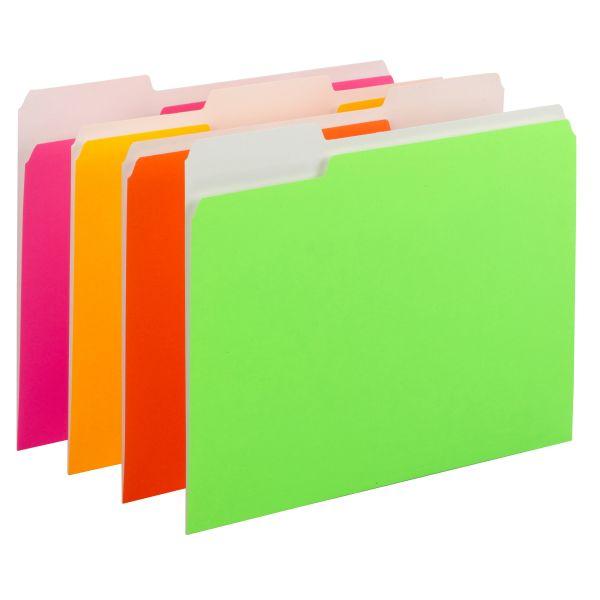 Smead Neon Colored File Folders