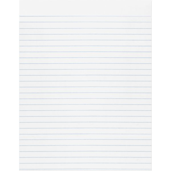 """Pacon Composition Paper, 3/8"""" Ruling, 16 lbs., 8-1/2 x 11, White, 500 Sheets/Pack"""