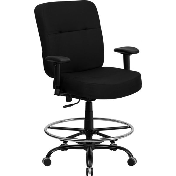 Flash Furniture HERCULES Series Big & Tall Drafting Chair with Extra WIDE Seat and Height Adjustable Arms