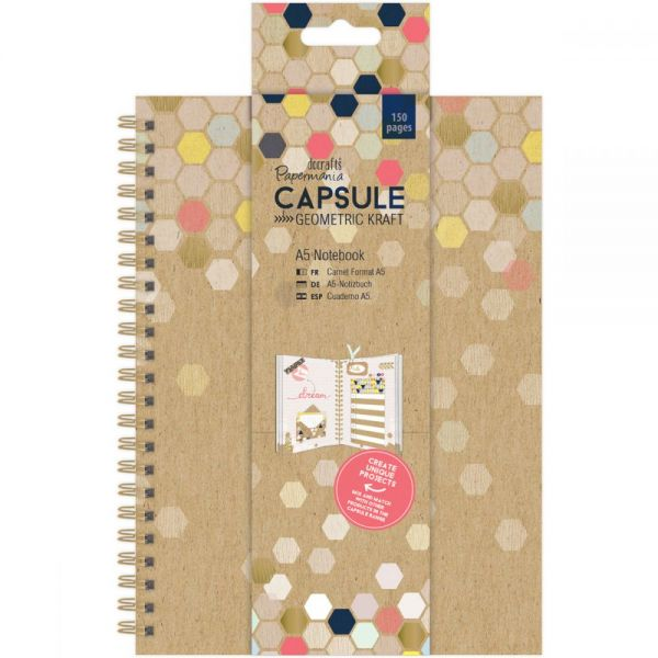 Papermania Geometric Kraft A5 Notebook