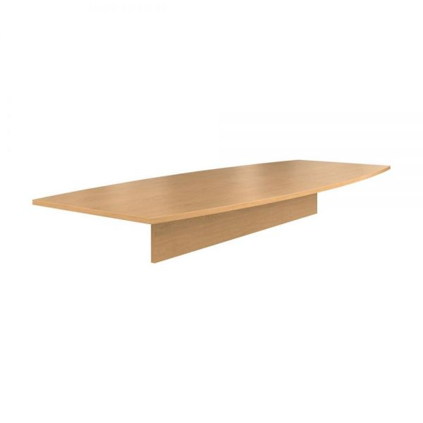 HON Preside Boat-Shaped Conference Table Top, 120 x 48, Harvest