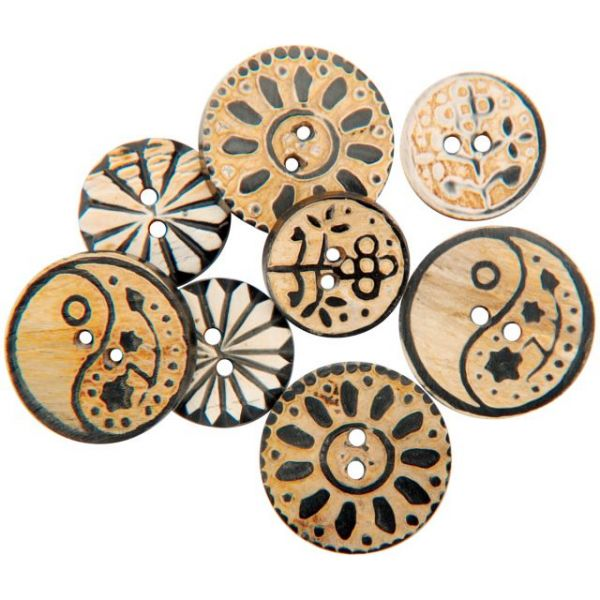 Handmade Bone Buttons