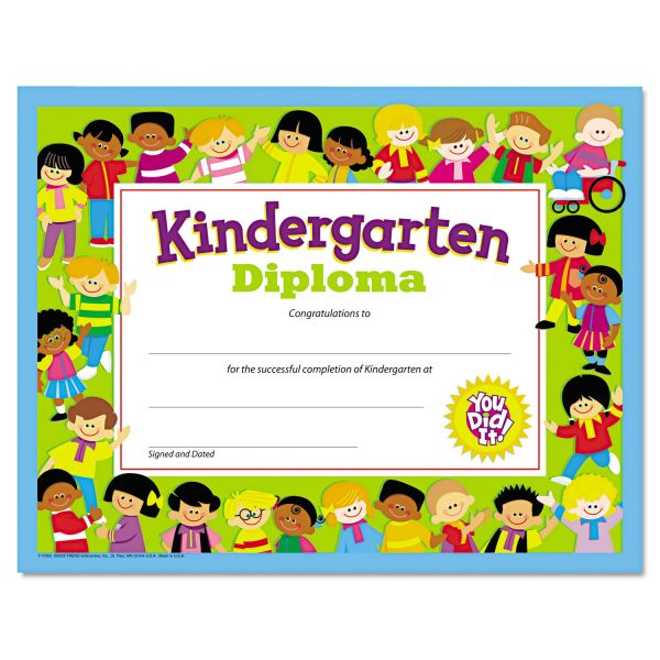 TREND Colorful Classic Kindergarten Diploma Certificates