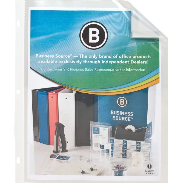 Business Source Top Loading Sheet Protector