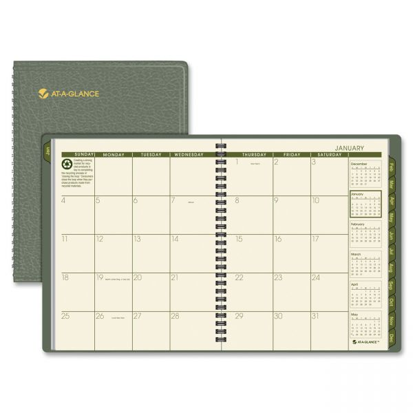 At-A-Glance Recycled Monthly Planner
