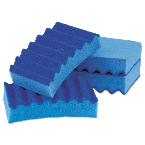 LYSOL Brand Durable Heavy Duty Scrub Sponges, 4 1/5 x 2 1/2 x 9/10, Blue, 4/Pack
