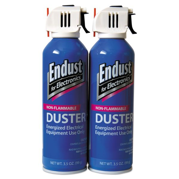 Endust Non-Flammable Duster with Bitterant, 3.5 oz, 2 Cans/Pack