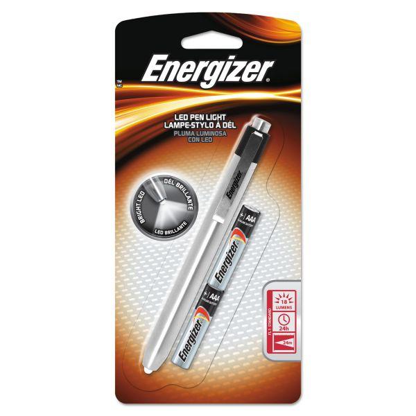 Energizer Aluminum Pen LED Flashlight, 2 AAA, Black