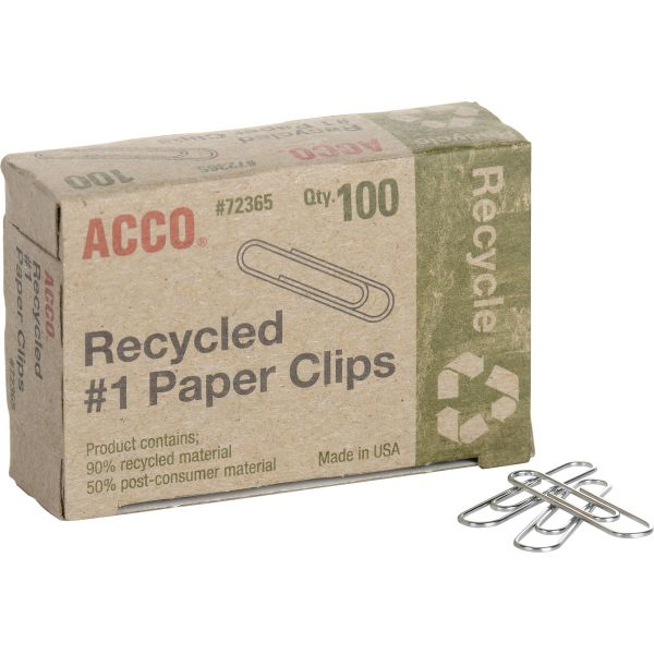 Acco Recycled #1 Paper Clips