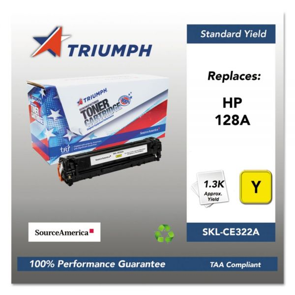 Triumph 751000NSH1111 Remanufactured CE322A (128A) Toner, Yellow