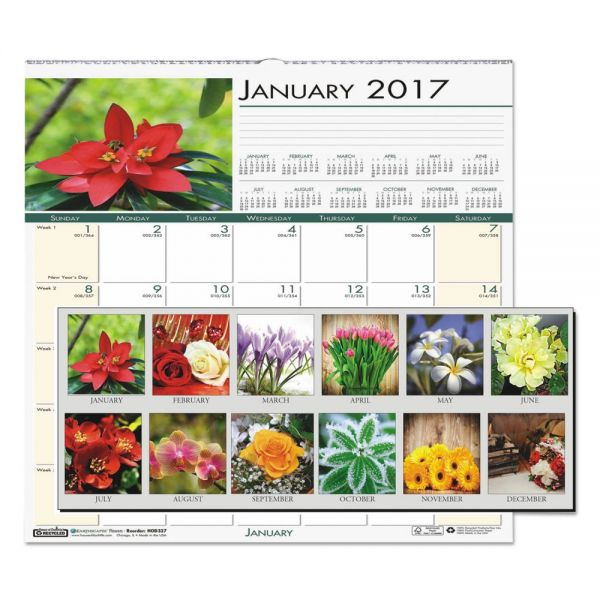 House of Doolittle Floral Monthly Wall Calendar