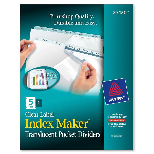 Avery Index Maker Print & Apply Clear Label Index Dividers