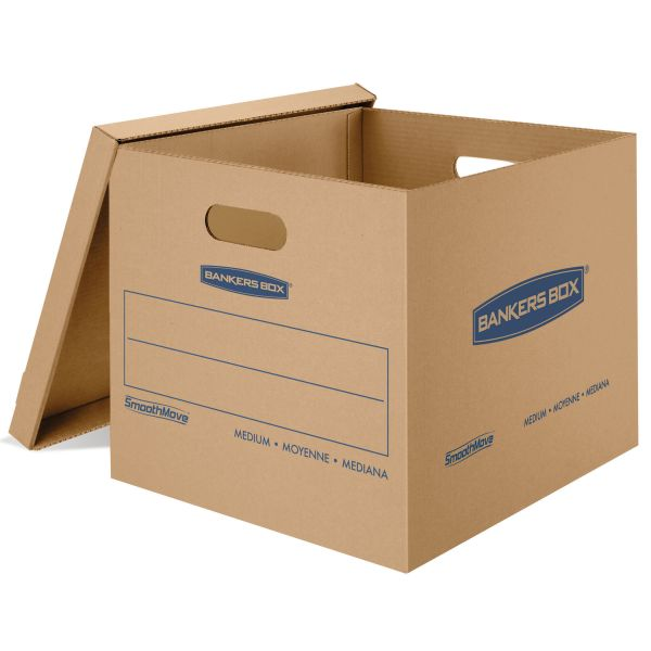 Bankers Box SmoothMove Classic Moving/Storage Boxes With Lift-Off Lids