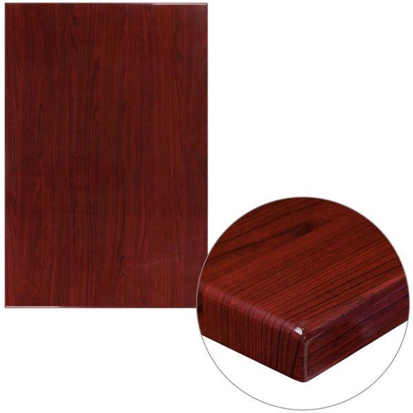 Flash Furniture Rectangular Resin Table Top