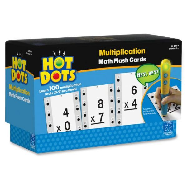 Hot Dots Flash Cards, Multiplication Facts 0-9