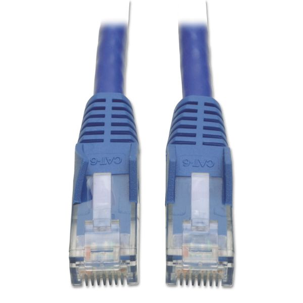 Tripp Lite CAT6 Snagless Patch Cable, 1 ft., Blue