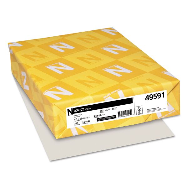 Neenah Paper Exact Index 110 lb Gray Colored Card Stock