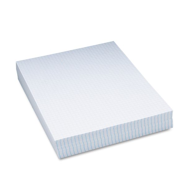 "Pacon Composition Paper, 1/4"" Quadrille, 16 lbs., 8-1/2 x 11, White, 500 Sheets/Pack"