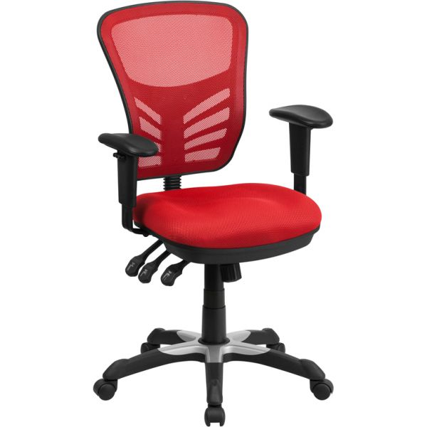 Flash Furniture Mid-Back Mesh Task Chair with Triple Paddle Control